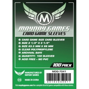 Sleeves Mayday Card Game Standard 63,5 x 88 mm - 100 p