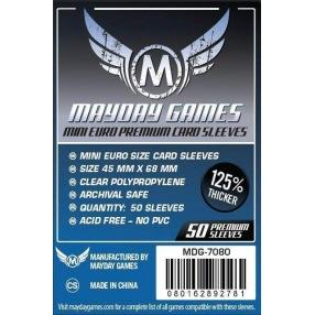 Sleeves Mayday Mini Euro Premium 45 x 68 mm - 50 p